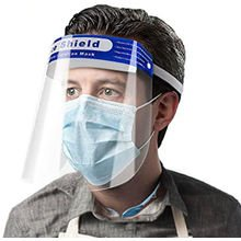 2 x Face Visor Safety PPE Shield Protection Reuse Plastic Guard UK STOCK - �4.93 Each