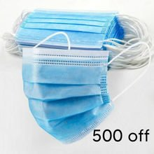 500x 3-Ply Surgical Style Ear Loop Face Masks For Workers (UK Stock For QUICK Delivery) 35p Each